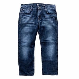 7 For All Mankind Mens Carsen Straight Denim Jeans